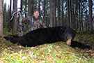 "Jason Peterson of Into The Wild TV with his 6'10"" Pope & Young Black Bear he harvested with an Excalibur Crossbow. Watch Jason's hunt on The Pursuit Channel and Wild TV this coming July, 2014 :: Spring 2014"