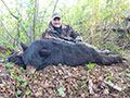 EJ Dilonardo of Illinois with his 2nd Black Bear that he has harvested with us. :: Spring 2014