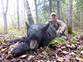Jordan Queen of Oklahoma with his archery kill Black Bear  ::  Spring 2014
